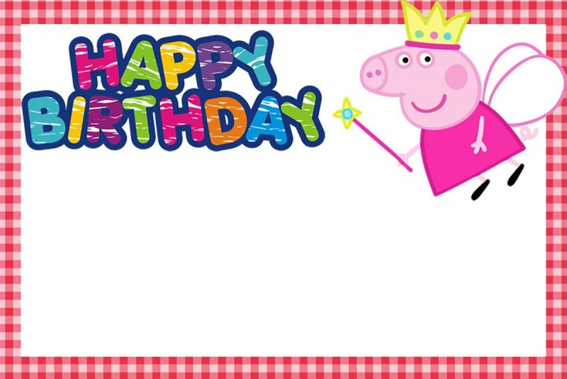 printable peppa pig birthday invitation