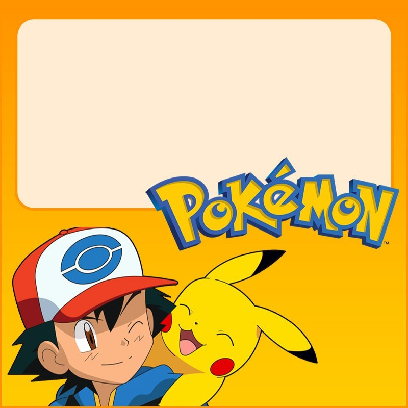 pokemon invitation template