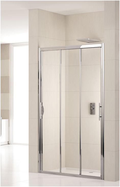 novellini lunes p three piece sliding shower door smaller panels give wider access