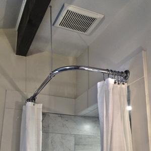 heavy round brackets corner shower rod 60 x 60