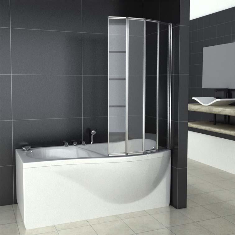 4 Folds And 5 Folds Folding Bath Shower Screen Bathroom