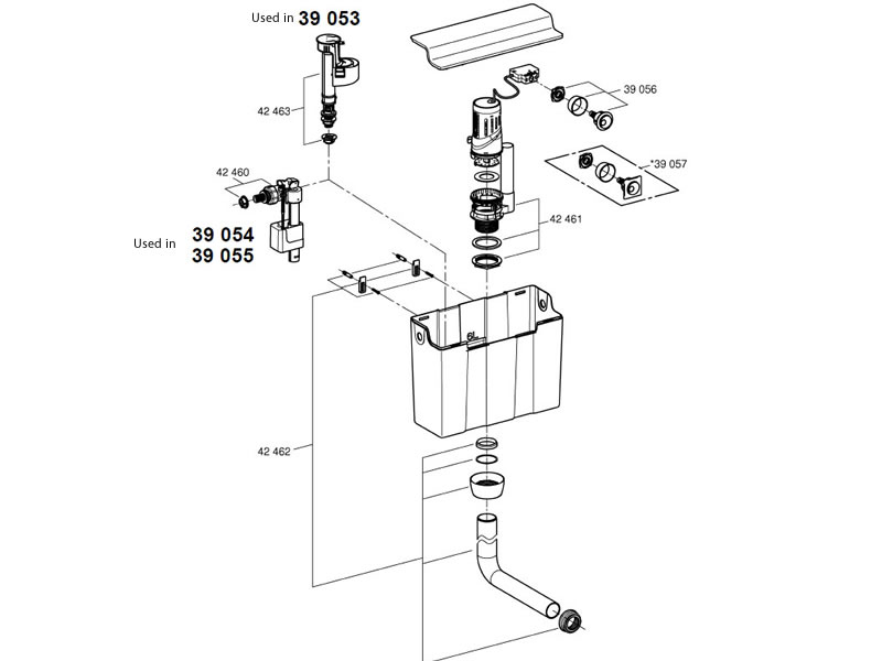 grohe concealed cistern dual flush
