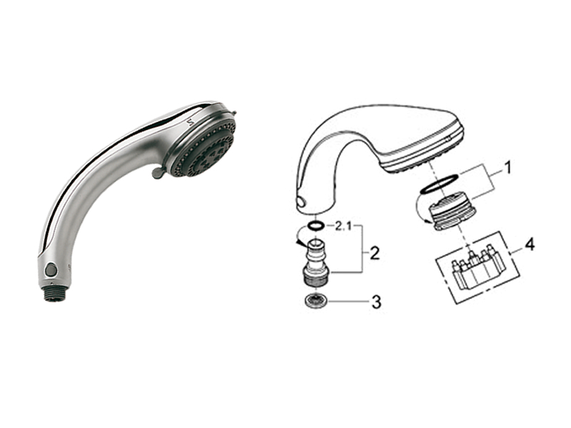 Grohe Relexa Shower Head Parts