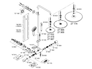 Grohe Rainshower System 210 bar mixer shower shower spares and parts | Grohe 27032 001