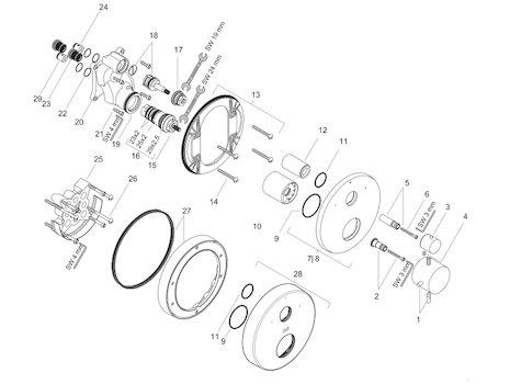 Hansgrohe Pharo Spare Parts | Motorbk.co