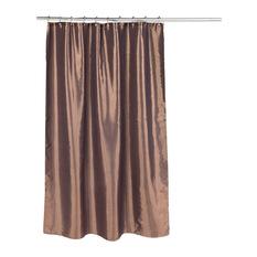 shimmer faux silk shower curtain in bronze