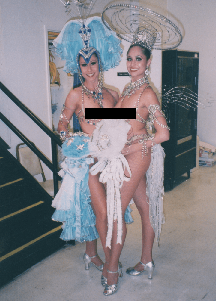 Las Vegas showgirl in Bob Mackie design