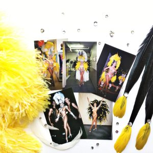 Showgirl's Life | Showgirl costume flatlay