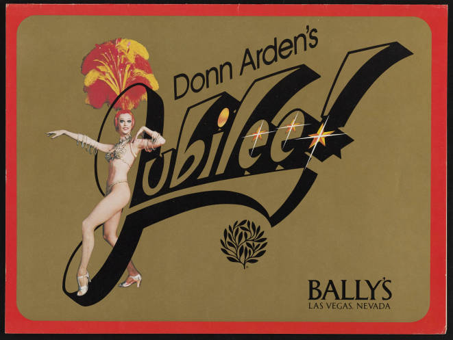 Donn Arden's Jubilee! Showgirl Spectacular at MGM Grand Las Vegas, 1981, opening program cover