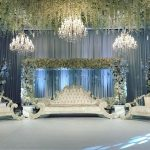 wedding flower ceiling