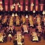 cena de gala en teatro