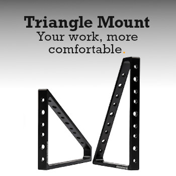 Triangle Mount Button