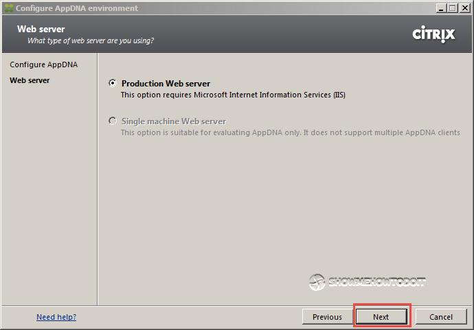 AppDNA 7 Installation Production Server