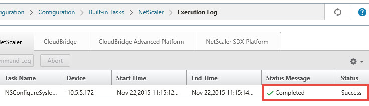 Citrix Command Center - NetScaler Syslog