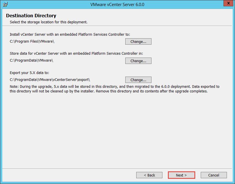 VMware vCenter 6 Upgrade
