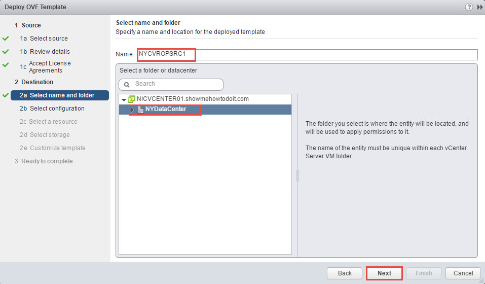 vRealize Operations Manager Remote Collector Name