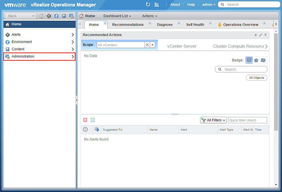 vRealize Operations Manager AD Authentication Configuration