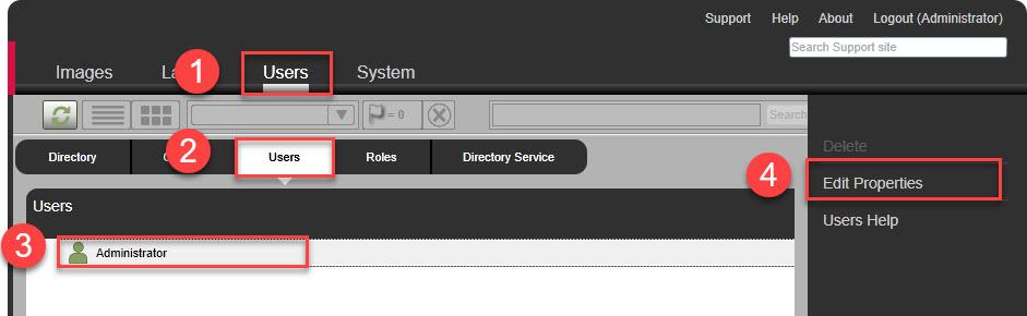 Unidesk Administrator Password Change Procedure