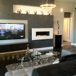 Modern fireplace at Jeff Click Parade Home