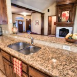 Granite countertops in kitchen