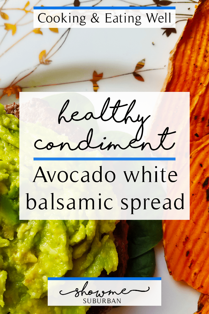 I wanted an alternative to mayonnaise, so I created this avocado white balsamic spread. It's rich, creamy, healthy, and easy to make.  It's basically like avocado mayonnaise.  My favorite healthy condiment as a burger topper, sandwich spread, or dipping sauce!
