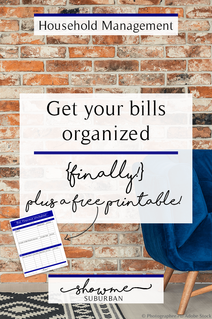 Forgetting to pay your bills on time? Struggling to keep track of what you owe and when? Get your bills organized with this helpful guide, plus a free printable bill organizer!