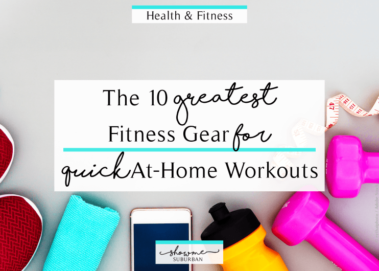 A busy life doesn't have to mean no exercise. With some basic fitness gear, you can have quick, effective home workouts. This list includes equipment for cardio and strength training. Looking for Christmas gift ideas? This is great as a gift guide for busy women! #homeworkouts #giftguide