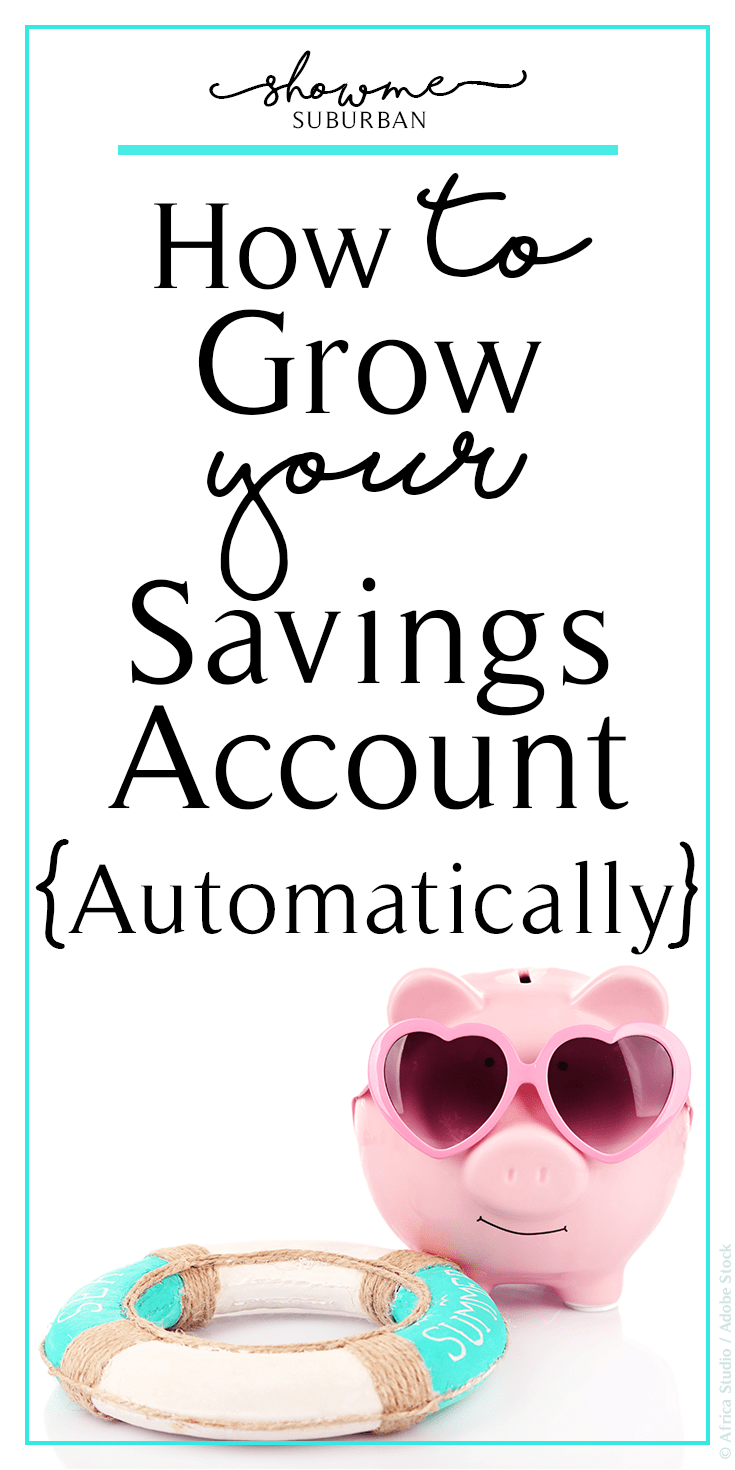 Want to increase your savings?  Learn how to grow your savings account automatically!  Use these tips and tricks to put saving money on autopilot.  Save up for a house, car, wedding, Christmas, anything by harnessing the power of automatic funds transfers.  #money #savings #moneyhacks