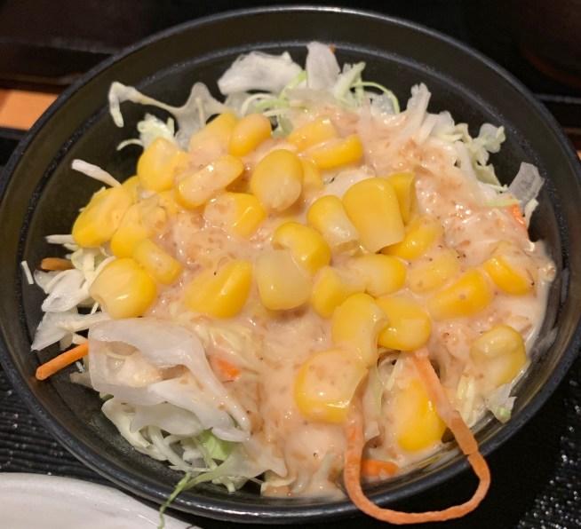 カレーうどん専門店「千吉(せんきち)」のセットのサラダ