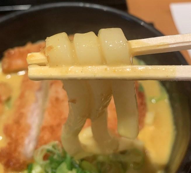 カレーうどん専門店「千吉(せんきち)」のカレーうどんのうどん
