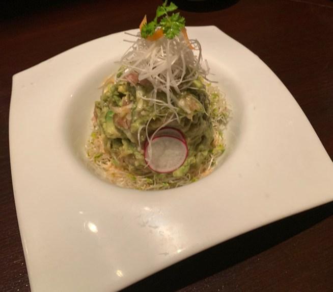 渋谷「うのさと」の「アボカドとねぎとろのサラダ」