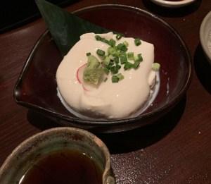 渋谷「うのさと」の「おぼろ寄せ豆腐」