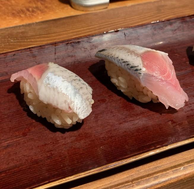 恵比寿にある寿司居酒屋「あげまき」のいわしの握り寿司