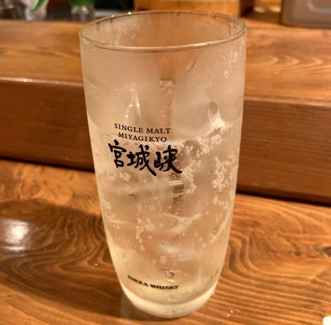 恵比寿にある寿司居酒屋「あげまき」の宮城峡ハイボール