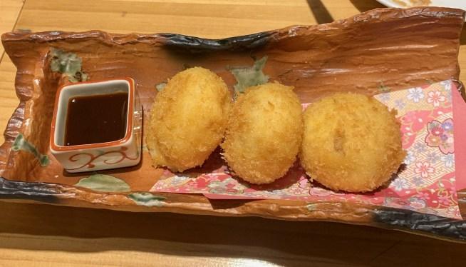 渋谷「活惚れ」の毛蟹クリームコロッケ