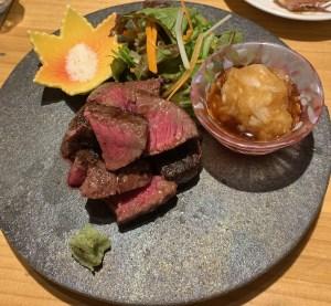 渋谷「活惚れ」の和牛いちぼ炭焼き
