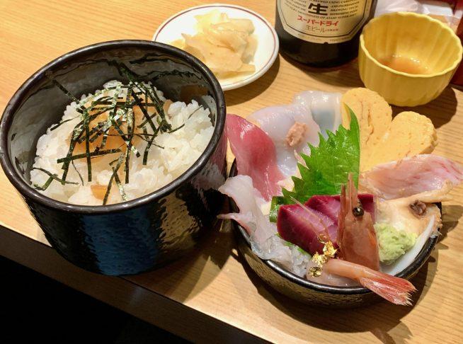 金沢「いきいき亭」の海鮮丼2