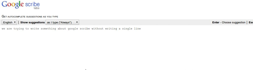 scribe - Google Scribe