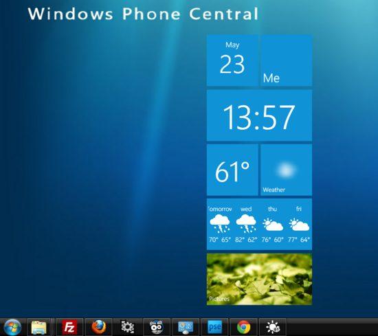 Metro Weather: widget com relógio e previsão do tempo para o PC 3
