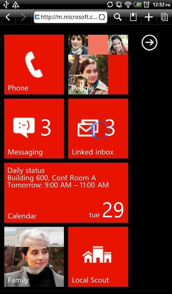 walkthrough - Experimente o Windows Phone em qualquer celular