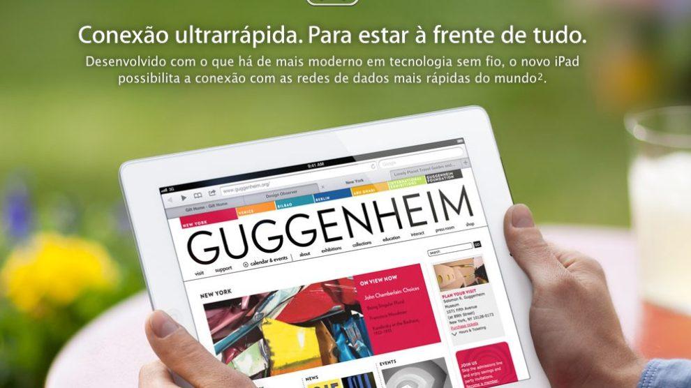 Reprodução Apple Novo iPad 3 - Novo iPad já aparece na loja brasileira da Apple