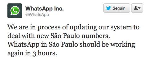Whatsapp está fora do ar em São Paulo e região metropolitana 4