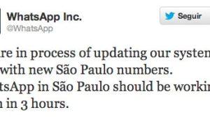 whatsapp sao paulo nono digito - Whatsapp está fora do ar em São Paulo e região metropolitana