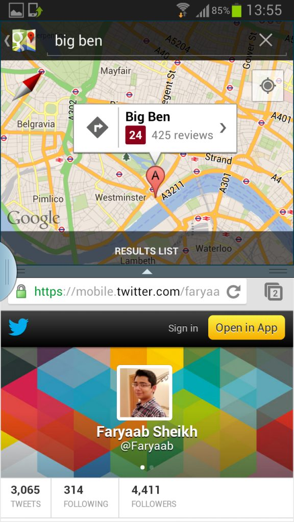Galaxy SIII multiview - Galaxy SIII: nova ROM da Samsung traz modo multi-view, page buddy e nova galeria