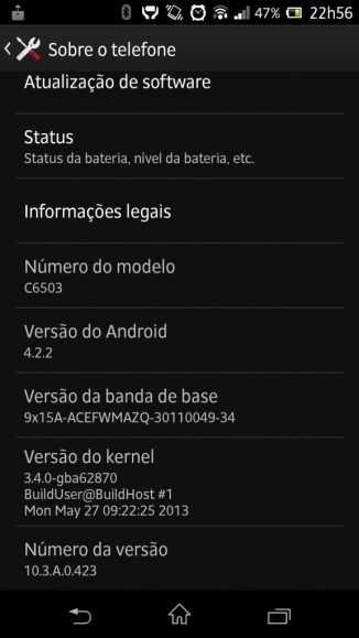 Xperia ZQ Android 4.2.2 Showmetech Jelly Bean 6 - Tutorial: instalando o Android 4.2.2 no Xperia ZQ (C6503)
