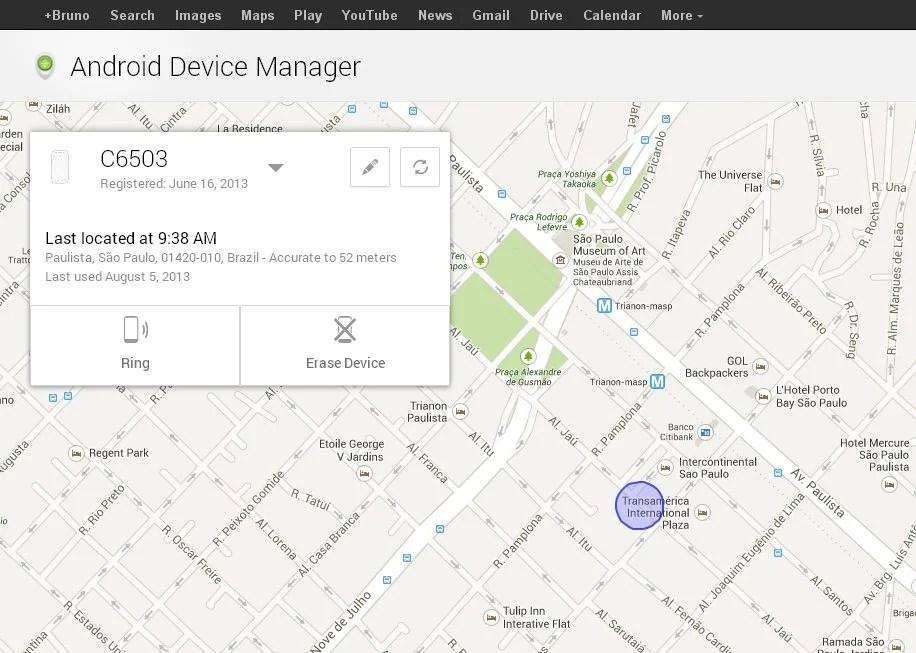 Android Device Manager1 - Localizador de Dispositivos Android já é acessível. Veja através deste link