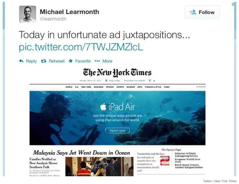 Apple dá azar em anúncio no The New York Times 3