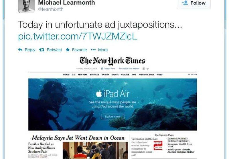 Apple dá azar em anúncio no The New York Times 8