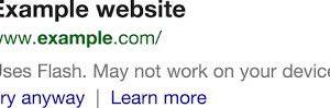 Google Flash Aviso - Google agora avisa que sites usam Flash nos resultados de busca