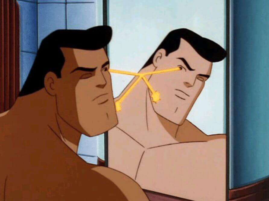 superman fazendo a barba - Faça a barba como o superman com esse barbeador à laser